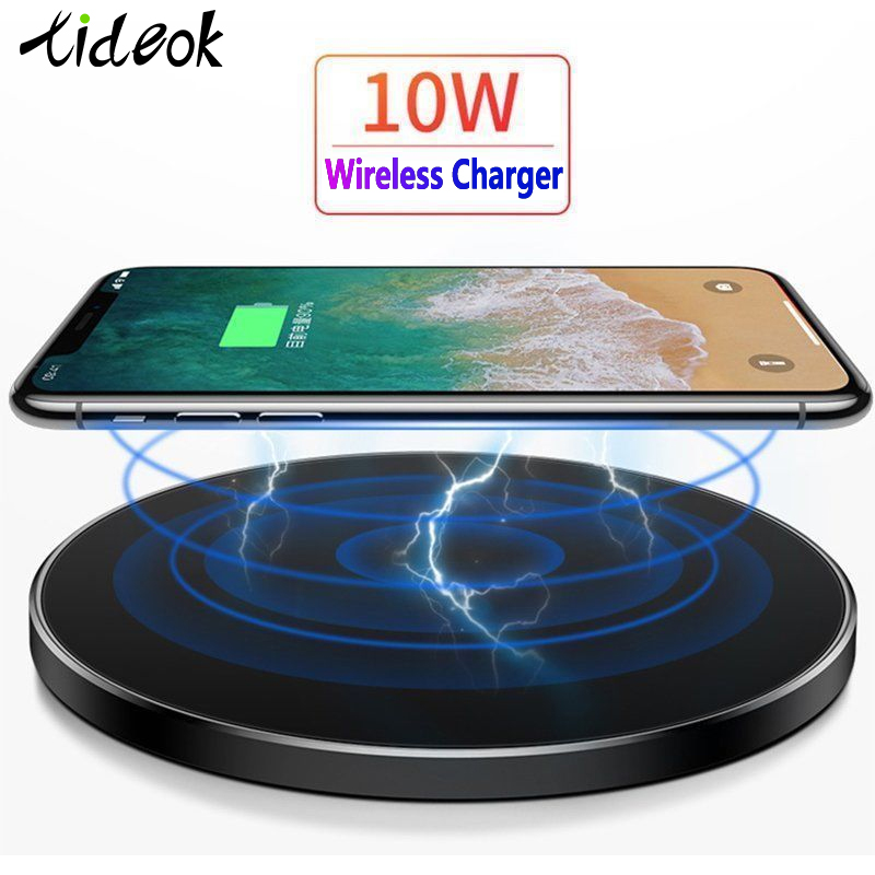 10W Qi Wireless Charger For Samsung S9 S10+ Note 9 8 Mirror Wireless Charging Pad 7.5W For IPhone X/XS Max XR 8 Plu