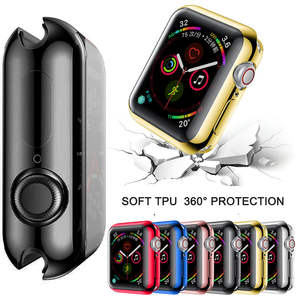 Case-Cover 38mm Clear-Case Apple for Watch-Series 5/4/3-2/Soft Screen-Protector TPU 40mm