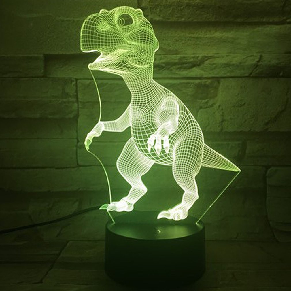 Small Dinosaur 3D Light Colorful Touch Remote Control Led Visual Light Desktop Table Lamp Modern Minimalist Table Lamp