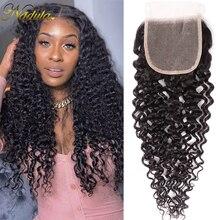 Perruque Swiss Lace Closure wig Remy bouclée 4x4 Nadula, cheveux brésiliens, 10 20 pouces, partie libre/centrale, densité de 120%, tissage