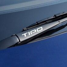 Pegatinas y calcomanías reflectantes para coche Fiat Tipo, accesorios de decoración para ventana de coche personalizado, 4 Uds.