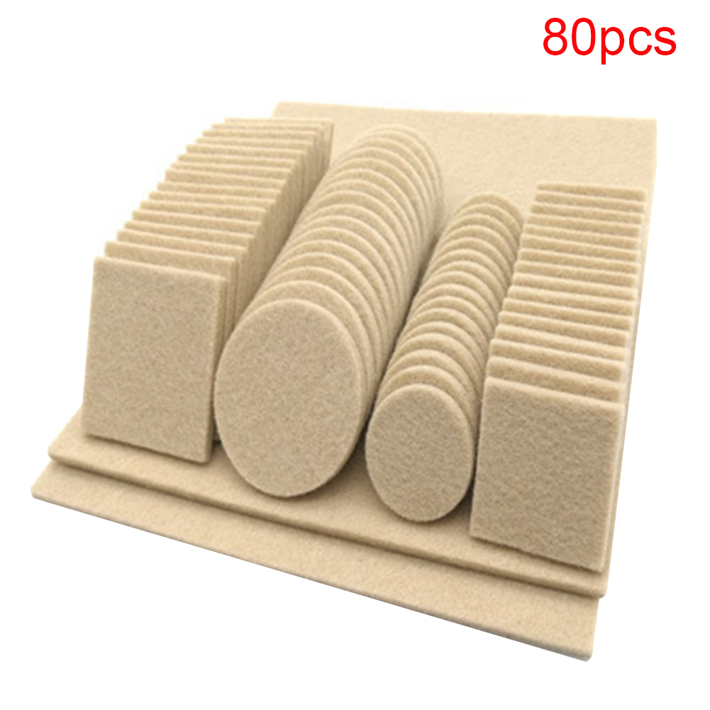 Non Slip Easy Install Hotel Home Chair Furniture Legs Portable Anti Scratch Felt Pad Self Adhesive Floor Multi Function Table