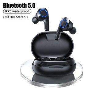 Bluetooth наушники мини сенсорное управление беспроводные наушники спортивные водонепроницаемые игровые гарнитуры 8D стерео наушники с микрофоном