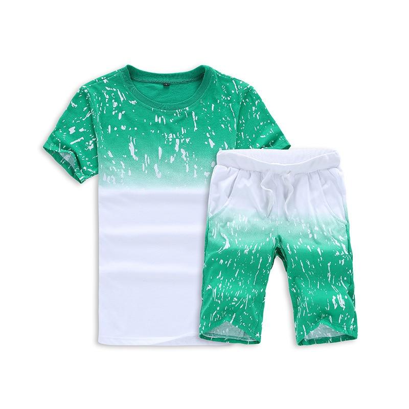 Men Fashion Summer T-shirt MEN'S Short Sleeve Two Pieces Short Sleeve T-shirt Teenager Japanese-style Mixed Colors T-shirt Men's