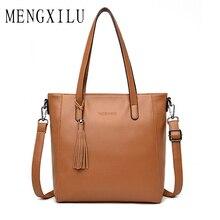 купить Luxury Handbag Large Capacity Women Bags Designer Soft Leather Handbag Women Shoulder Bag Ladies Tassel Tote Handbag Sac A Main по цене 1458.29 рублей