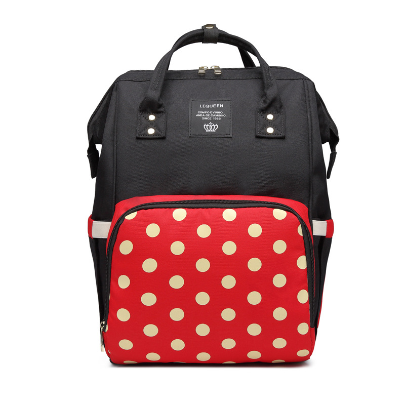 Lequeen Dot Diaper Bag Multifunction Large Storage Mommy Bag Fashion Diaper Bag Mommy Backpack Travel Diaper Backpack Baby Care
