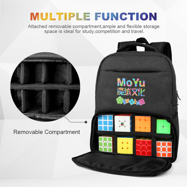 Moyu Backpack Bag Professional bag For 2×2 3x3x3 4×4 5×5 6×6 7×7 8×8 9×9 10×10 Magic Puzzle Speed Cube ALL Layer Toys Gift