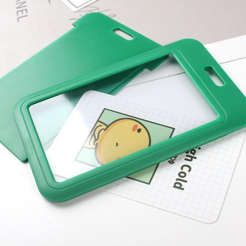 1 PC Bank Credit Card Holder Bus ID Cards Holders Women Men Fashion Card Bags Keychain Cute Cartoon Card Case Key Chain Ring (21)