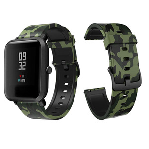 Image 3 - Silicone Strap For Garmin Veun Sq Forerunner 245M 245 645 Music Move 3 Luxe Style Venu Watchband 20mm Camouflage Bracelet