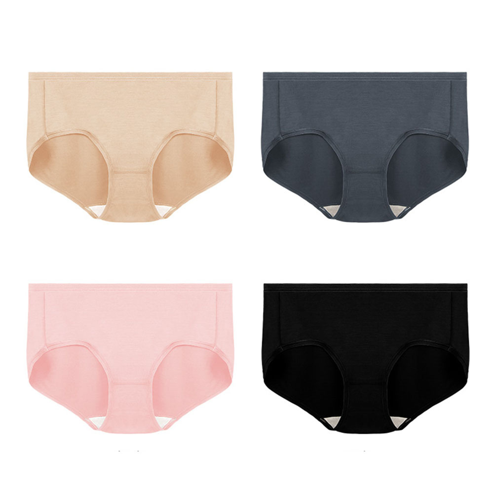 Women's 100% Silk Crotch Modal Body French Style Briefs Underpant Women's Intimates briefs seamless Panties
