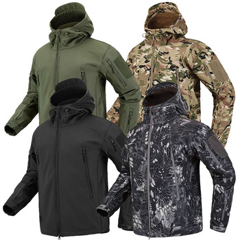 Hiking Army Jackets Men Military Airsoft Camping Tactical Jacket Winter Shark Skin SoftShell Waterproof Windbreaker - discount item  45% OFF Coats & Jackets