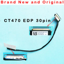 Nova linha de vídeo do fio da tela do cabo do lcd para lenovo thinkpad ct470 t470 dc02c009j00 edp sc10g75185 00ur483 30pin fhd lvds cabo