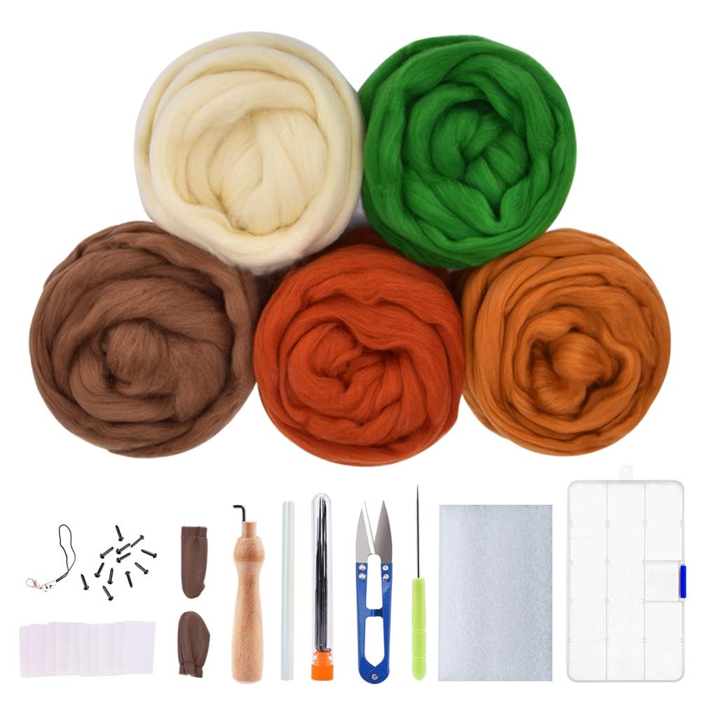 100g Cream White Needle Felting Wool Felt Wool Tops Roving Spinning Weaving Tool