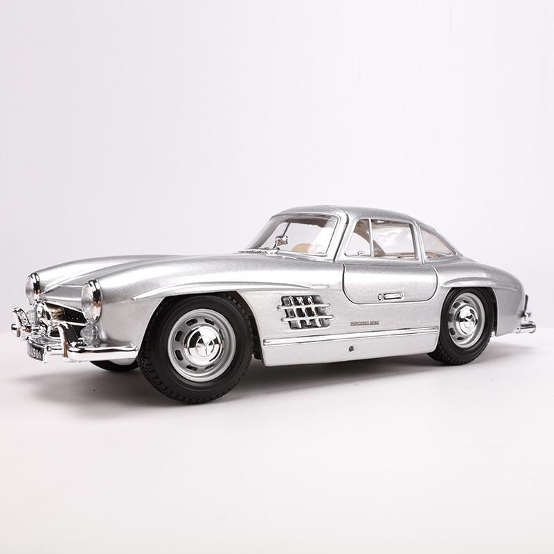 Burago 1: 18 1954 Mercedes 300SL Retro Vintage Car Model Alloy Car Thin Model Toy High Simulation Toy Gift Collection