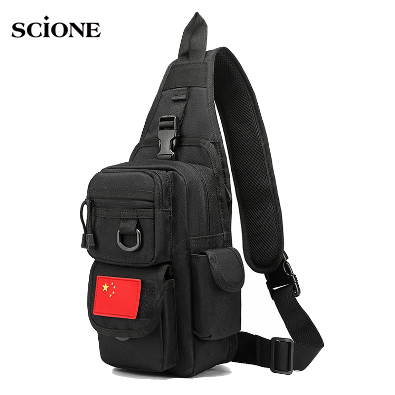 Multifunctional Military Shoulder Bag Tactical Sling Chest Army Backpack Molle Riding Camouflage Bags Pack Outdoor Sport XA761WA