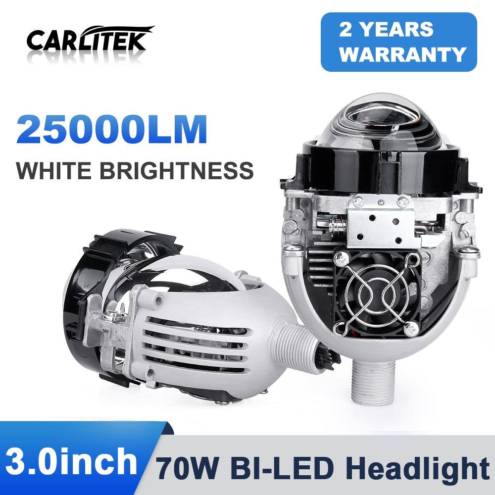Kit de lámparas LED de 3 pulgadas para coche, kit de lámparas LED H4 Hi/Lo Beam 70W 9005 9006 H1 H7, 2 uds.