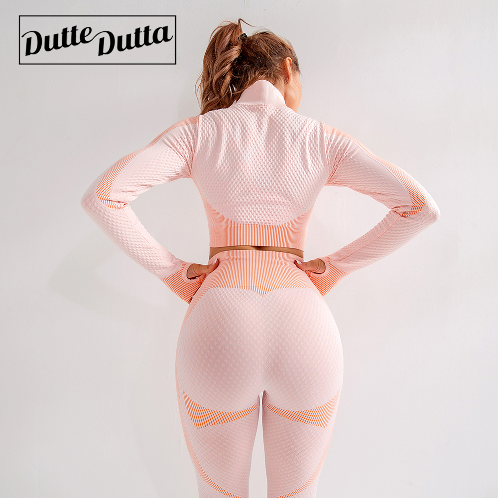 New 2 Piece Seamless Yoga Set Push Up Leggings And Top bra Gym set clothing Fitness Workout set Women's sportswear Tracksuit