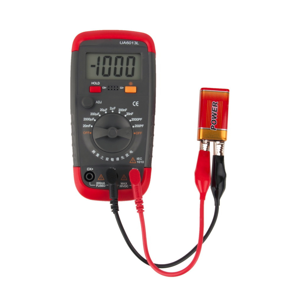 1 Pc UA6013L Auto Range Digital LCD Capacitor Capacitance Test Meter Multimeter Measurement Tester Meter Brand New