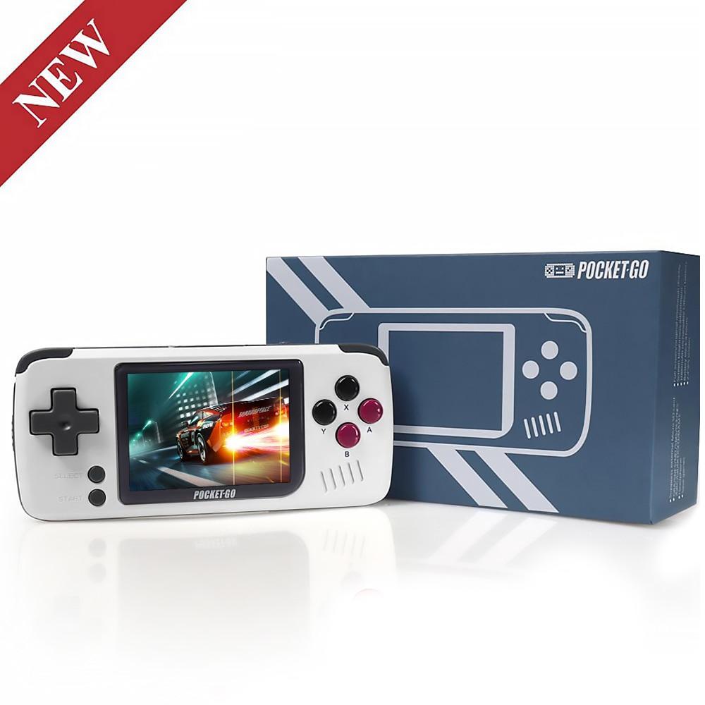 Consola de jogos, pocketgo, consola de jogos de vídeo retro handheld, jogadores portáteis do jogo das crianças da tela de 2.4 polegadas com