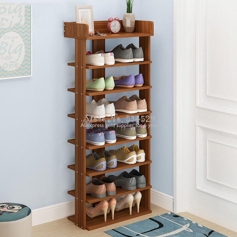Multi-Layer Wooden Shoe Rack Easy Assemble Storage Shelf Shoe Cabinet Simple Shoe Rack Stand Shoes Organizers Home Furniture