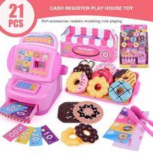 Мини-симулятор супермаркета кассовый Прилавок ролевые девушки кассовый аппарат игрушки Обучающие ролевые игры игрушки для детей игрушки