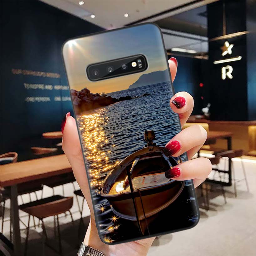 HD Wallpaper Aesthetic Black Phone Case for Samsung Galaxy S20 Ultra S10E Note 10 9 8