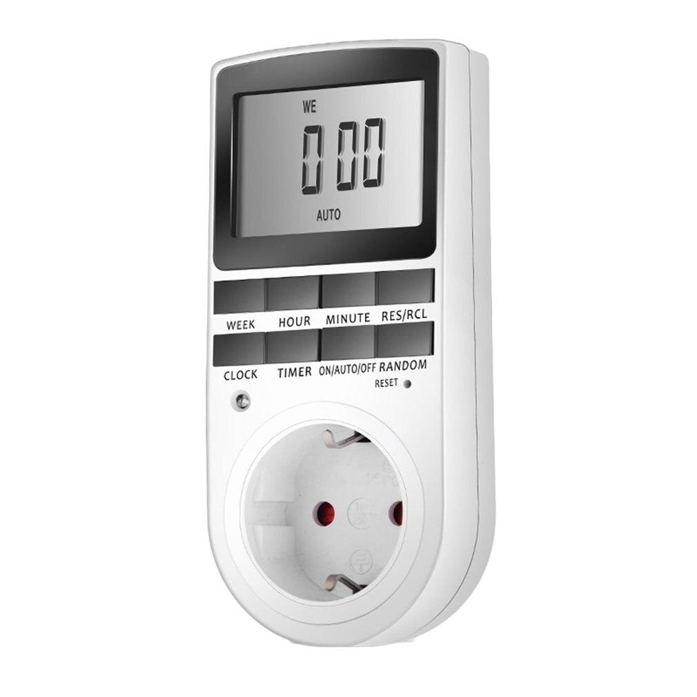 KWE-TM02 électronique numérique minuterie interrupteur prise cuisine minuterie sortie 230V 50HZ 7 jour 12/24 heure Programmable prise de synchronisation