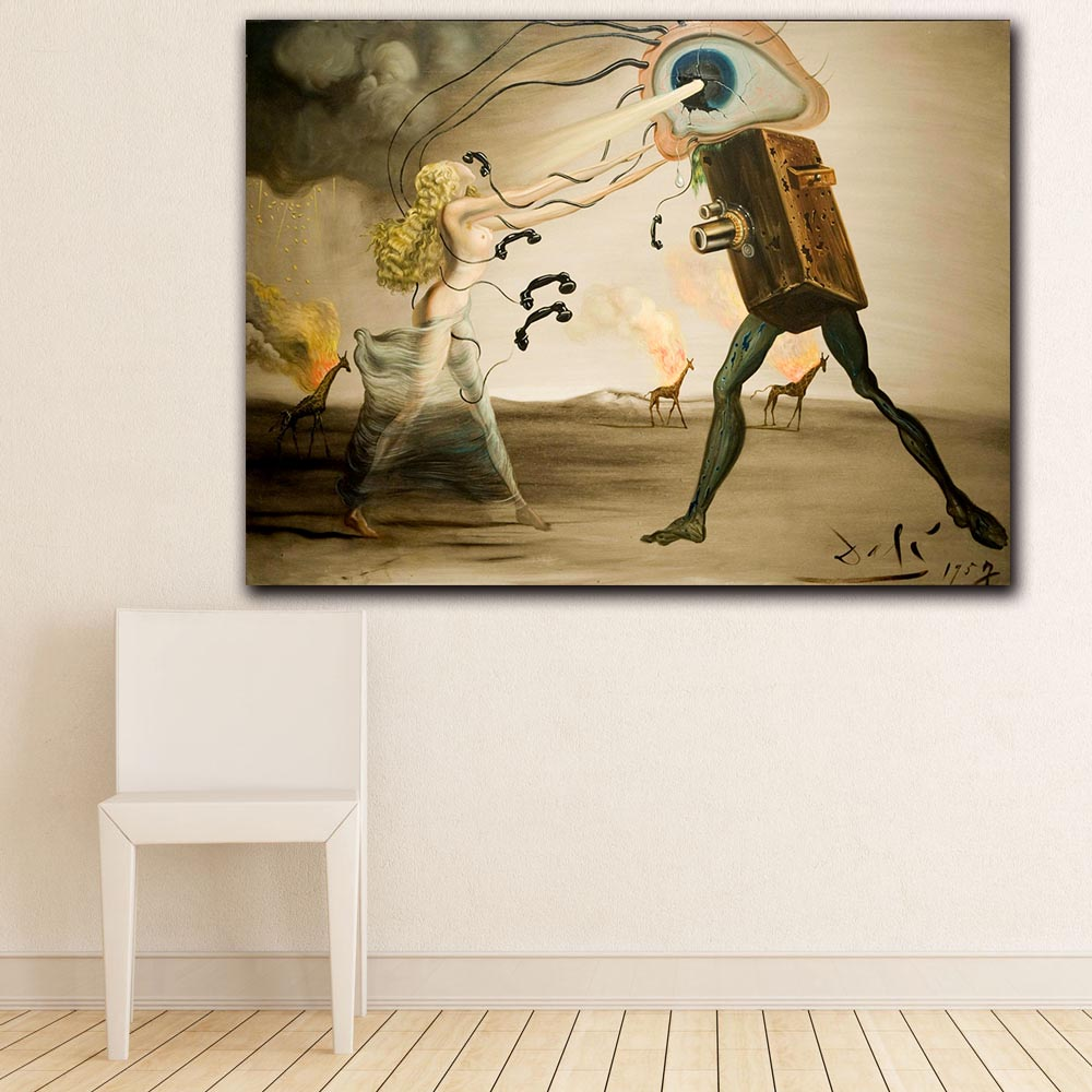 Fashion Wall Art Oil Painting Prints Posters Salvador dali Political Film Blog Modern Canvas paintings For living room Decor image
