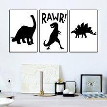 Плакаты в скандинавском стиле с черно белыми животными мультяшными