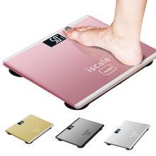 180 кг точные Умные Электронные стеклянные ЖК-дисплей для дома, ванной комнаты, напольные весы для тела