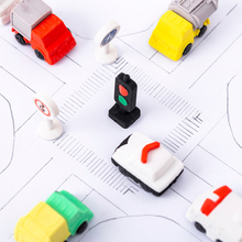 4pcs/lot Ttraffic Light Truck rubber eraser creative kawaii stationery school supplies papelaria gift for kids