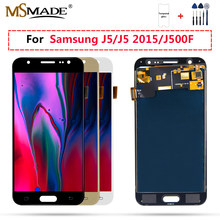 J5 2015 LCD untuk Samsung Galaxy J500 LCD J500F J500FN Tampilan J500M J500H Display Touch Screen Digitizer Replacement Parts(China)