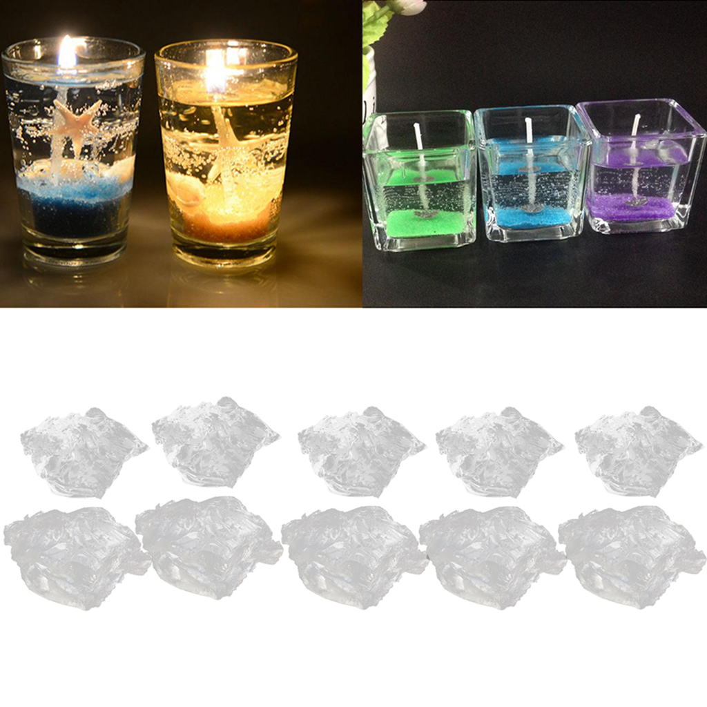1kg Clear Paraffin Gel Jelly Wax For Candle Making Smokeless Highly Transparent Crystal Jelly Non-Toxic Hold 5-6% Fragrance Load