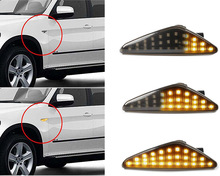 2Pcs Amber LED Fender Side Marker Turn Signal Lights For BMW X5 E70 X6 E71 E72 X3 F25