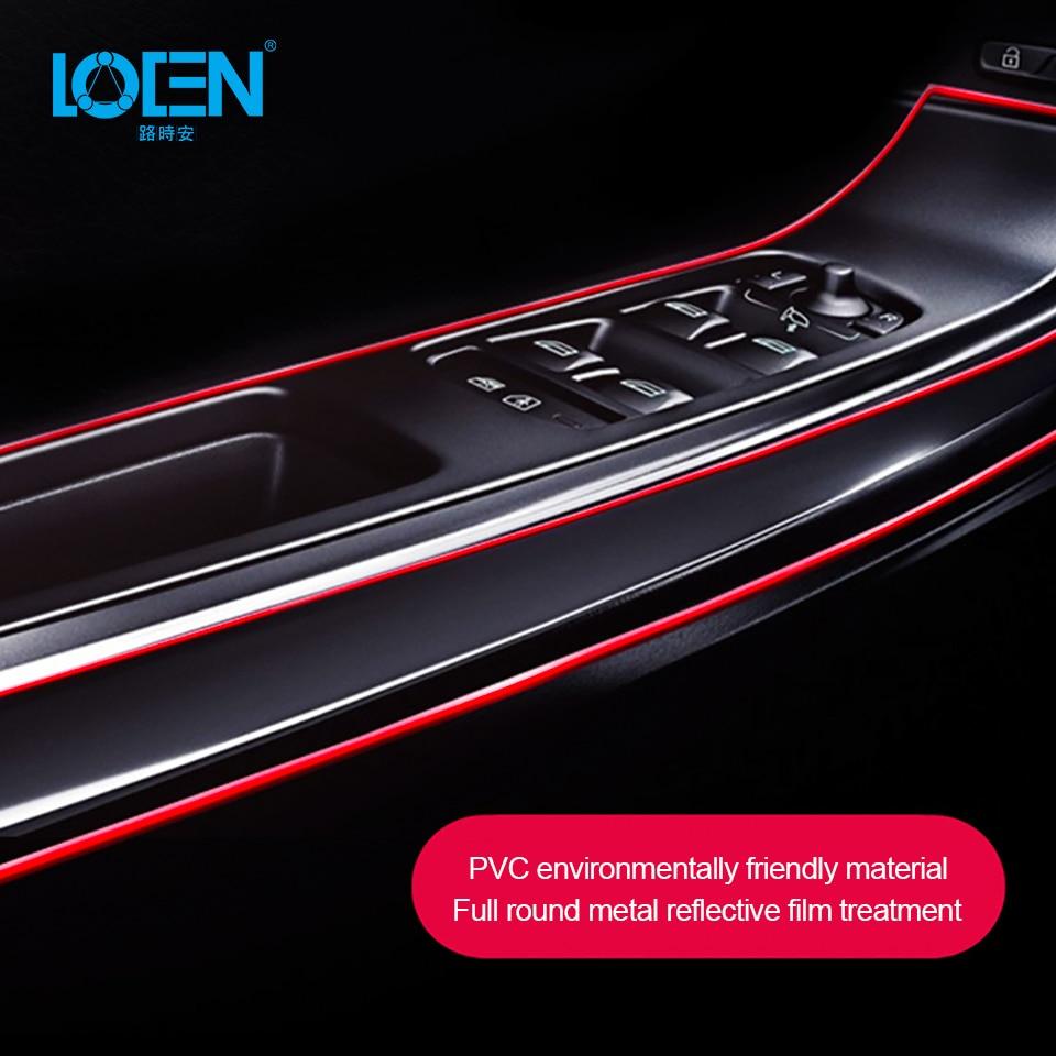 5M Interior Mouldings Silica Gel Auto Interior Decoration Strips Moulding Trim Dashboard Door Edge Universal Car Accessories Pink