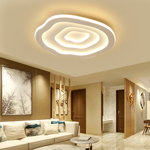 good quality clear ring led ceiling lamp crystals flush mounted living room lights lampara led techo for home fast shipping Clouds Modern led Ceiling Lights For Living Room Bed room White Color plafon led Home Ceiling Lamp lampara techo AC110V-220V