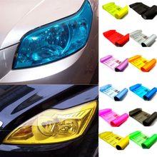 30cm x 60cm auto farol do carro luz traseira nevoeiro capa adesivo filme vinil folha etiqueta azul laranja verde