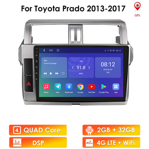 Image 1 - Plus For Toyota Land Cruiser Prado 150 2013   2017 Car Radio Multimedia Video Player Navigation GPS No 2din 2 din fm Stereo wifi