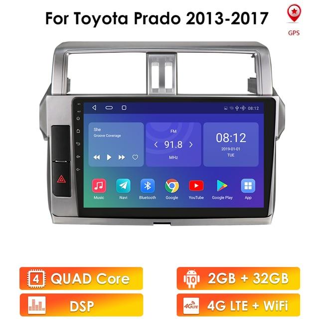 Plus For Toyota Land Cruiser Prado 150 2013   2017 Car Radio Multimedia Video Player Navigation GPS No 2din 2 din fm Stereo wifi