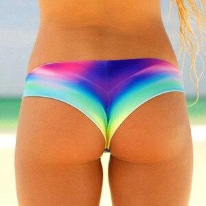 Swimwear Women Briefs Bikini Bottom Side Ties Brazilian Thong Swimsuit Classic Bottoms Biquini Swim Short Ladie Swimsuit #LR1