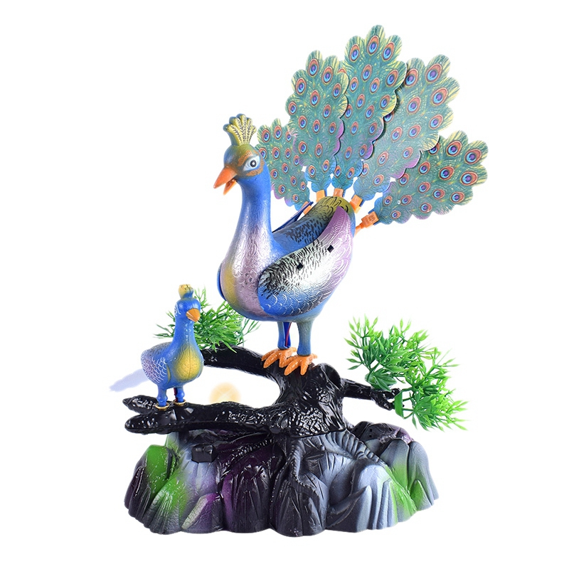 Sound Control Bird Voice Control Peacock Open Screen Music Lighting Induction Sound Control Toy