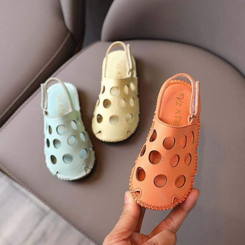 Kids Sandals 2020 New Fashion Girls Shoes Children Boys Pu Hook Loop Anti-slip Tendon Rubber Beach Sandals Baby Shoes Toddler