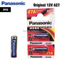 2 pces bateria alcalina 27ae 27mn a27 gp27a l828 de panasonic 27a 12 v para campainha, alarme de carro, walkman, controle remoto do carro etc