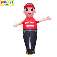 2.5m/8.2ft inflatable air dancer sky dancing tube man car wash cartoon characters for outdoor advertising free shipping for sale