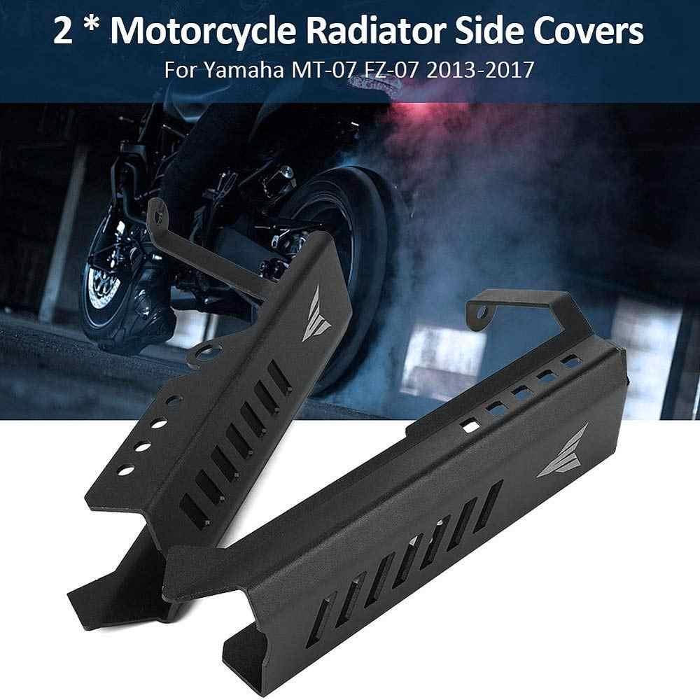 Cubiertas laterales del Protector de la rejilla del radiador de aluminio de la motocicleta para Yamaha Mt09 Fz09 Mt-09 Mt 09 Fz 09 Fz-09 2014-2016