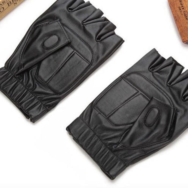 Прямая поставка-мужские уличные спортивные мужские кожаные перчатки с полупальцами, кожаные черные велосипедные перчатки