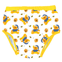 New Style Adult Tights Printed Honey Bear Trainning Pants Adult Baby Brief With Padding Inside