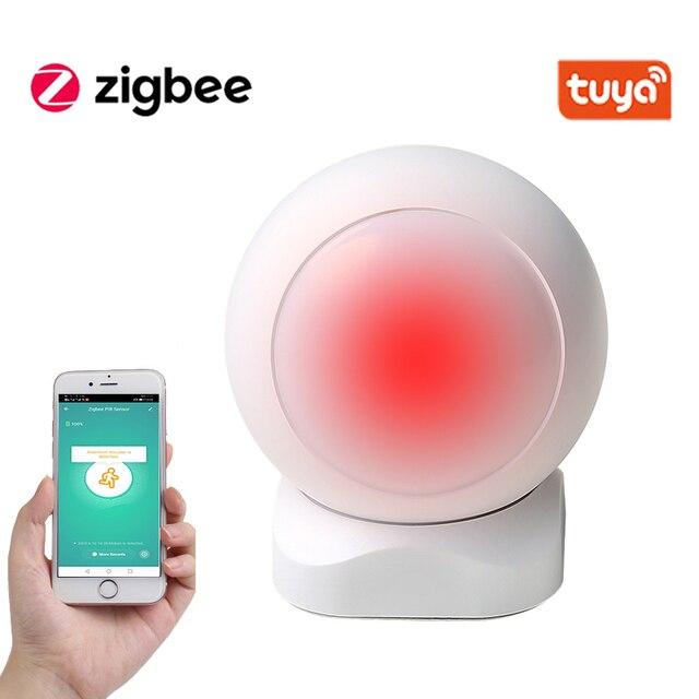 Tuya ZigBee Smart PIR Motion Sensor Gebaut In Batterie Passive Infrarot Detektor Sicherheit Einbrecher Alarm Sensor 1