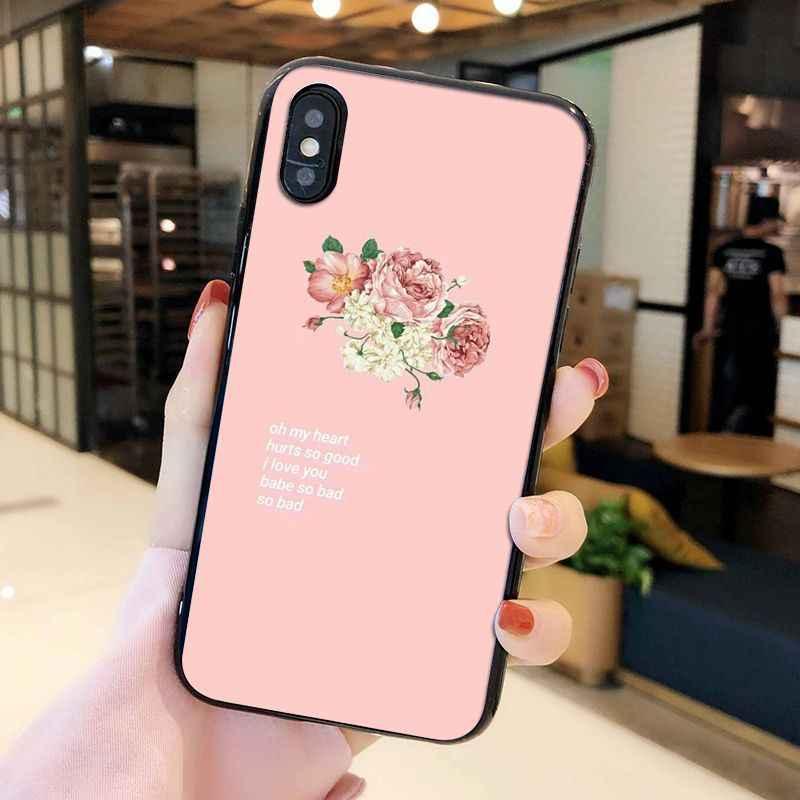 Yinuoda Vintage Roze Esthetiek Liedjes Teksten Telefoon Case Voor Iphone 11 11Pro X Xs Max Xr 8 7 6 6S Plus 5 5S Se