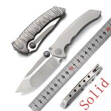 Mcstudio складной нож в песчаной буре M390 лезвие с титановой ручкой походные охотничьи ножи для выживания Инструменты для повседневного использования